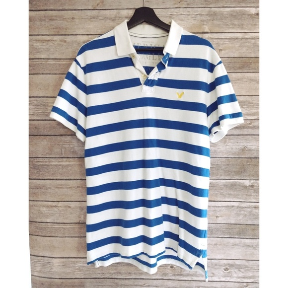 5d6692ade59 American Eagle Outfitters Other - Mens American Eagle Athletic Fit Stripe  Polo